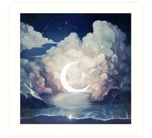 upon the sky-foam. Art Print