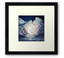upon the sky-foam. Framed Print