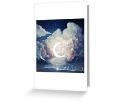 upon the sky-foam. Greeting Card