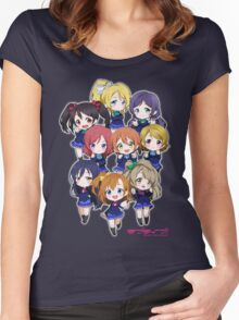 LOVE LIVE! SCHOOL IDOL PROJECT Women's Fitted Scoop T-Shirt