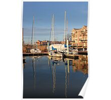 Sailboats in Baltimore Poster