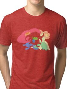 Oddish - Gloom - Vileplume + Bellossom Tri-blend T-Shirt