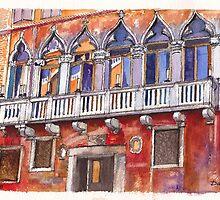 Venice Colourful Facade by Dai Wynn