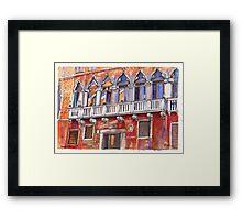 Venice Colourful Facade Framed Print