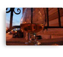 Brandy Glass Canvas Print