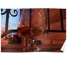 Brandy Glass Poster