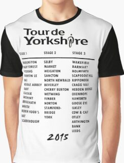Tour de Yorkshire 2015 Tour - On back Graphic T-Shirt