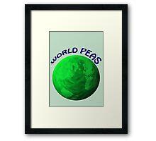 World Peas Framed Print