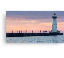 Picture The Sunset Photographer Canvas Print