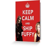 Ship Fuffy Greeting Card