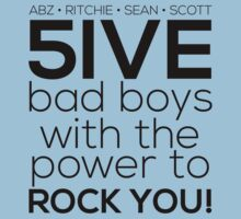5ive Bad Boys with the Power to ROCK YOU! (black version) by Melanie St Clair