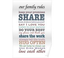 Our Family Rules (colour) Poster