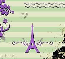 Memories from Paris - Green Purple  by sitnica