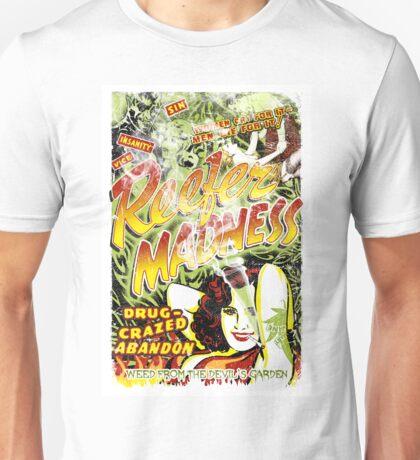 Reefer Madness. Marijuana. Mary Jane. Weed. Propaganda. Legalize. Cannabis Unisex T-Shirt