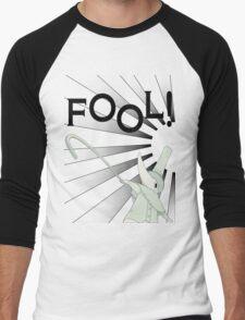 Excalibur With FOOL! saying Men's Baseball ¾ T-Shirt