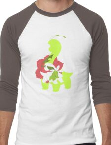 Chikorita - Bayleef - Meganium Men's Baseball ¾ T-Shirt
