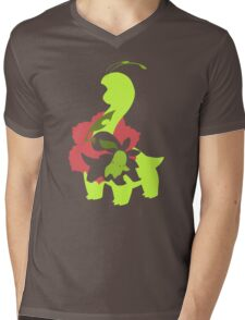 Chikorita - Bayleef - Meganium Mens V-Neck T-Shirt