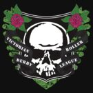 Victoria Roller Derby League Skull - Green by Tracey Quick