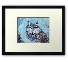 Snow Wolf - Animal Art by Valentina Miletic Framed Print