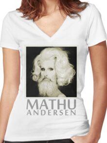 Makeup Artist Mathu Andersen Women's Fitted V-Neck T-Shirt