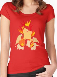 Cyndaquil - Quilava - Typhlosion Women's Fitted Scoop T-Shirt