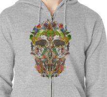 Ancient Skull Zipped Hoodie