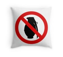 Against Explosions Throw Pillow
