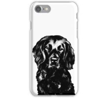 Black Lab Beauty Graphic ~ black and white iPhone Case/Skin
