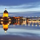 Sunset over Garonne river by Talida Pacurar