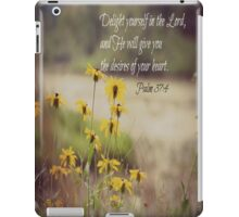 Psalm 37:4 Delight Yourself Lord iPad Case/Skin
