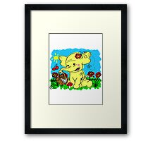Treetrunks Framed Print