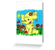 Treetrunks Greeting Card