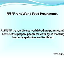 FFSPF tackles problems related to starvation in the world. by vernicalogic