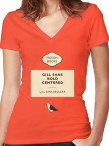Gill Sans Women's Fitted V-Neck T-Shirt