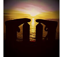 Surfers Silhouette Photographic Print