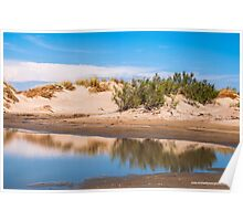 Reflected Dunes in the Camargue Poster