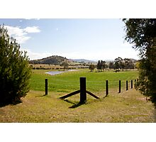 Rural View outside Gresford, NSW Australia Photographic Print