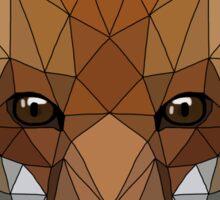 Geometric Fox Sticker