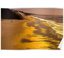 Golden Beach Sunrise Poster