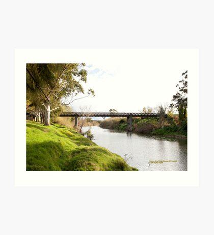 Historic Bridge, Paterson River at Paterson Art Print