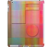 Modern Geometric shapes case with Summer colours iPad Case/Skin