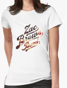 Zac Brown Band American Logo Womens Fitted T-Shirt
