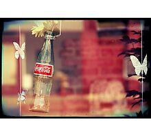 Pop Bottles and Butterflies Photographic Print