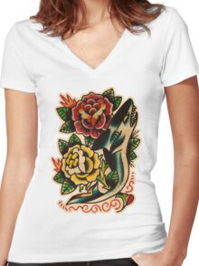 Spitshading 046 Women's Fitted V-Neck T-Shirt