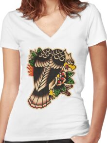 Spitshading 050 Women's Fitted V-Neck T-Shirt