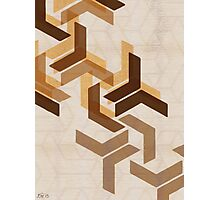 Chevron Honeycomb Series 1 of 3 Photographic Print