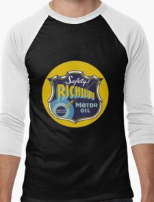 Richlube Vintage Motor Oil Men's Baseball ¾ T-Shirt