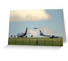 2 747's and a DC 8  Greeting Card