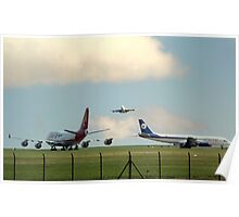 2 747's and a DC 8  Poster