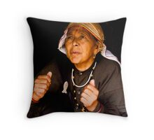 The Working Elderly From Last Village Of India Throw Pillow